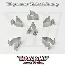 5x METALL HALTERUNG KLAMMERN KLEMME MUTTER SEAT VW SKODA