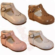 Party Leather Upper Shoes for Girls Buckle