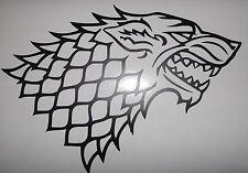 """El Lobo Sigal Game Of Thrones Gran Corte Vinilo coche / pared calcomanía sticker11 """"x 8"""""""