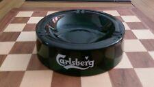 LARGE CARSLBERG LAGER GREEN GLASS ASHTRAY HEAVY 978 gramms