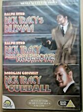 DICK TRACY - 3 x Film - DVD - NEW/SEALED - DILEMMA/MEETS GRUESOME/VS CUEBALL