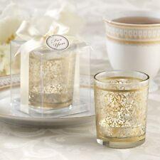 15x Golden Renaissance Glass Tea Light Candle Holder Vintage Wedding Favor Gift