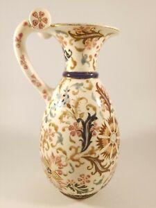Vintage Fischer J. Budapest Hand Painted Ceramic Decorative Vase.