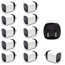 10 Pack Wall Charger USB Power Adapter Cube Plug For Samsung iPhone Universal