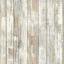 RoomMates Rmk9050Wp 28.18 Square Feet Distressed Wood Peel And Stick Wallpaper