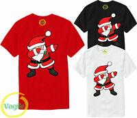 Mens Ladies Santa Dab Christmas Tshirt Funny Dancing  Xmas Festival T-shirt