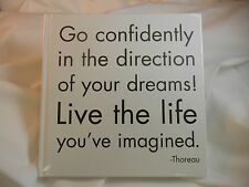 Quotable Journal- Go confidently in the direction of your dreams - JB55 - NIP