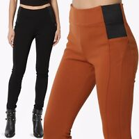 TheMogan Elastic High Waist Stretch Ponte Knitted Skinny Pants Trousers S~3X