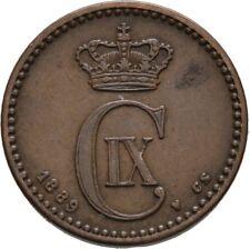 1889 Denmark 1 Ore-Dolphin/Wheat -Nice #2