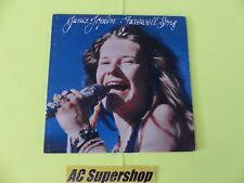 "Janis Joplin farewell song - LP Record Vinyl Album 12"""
