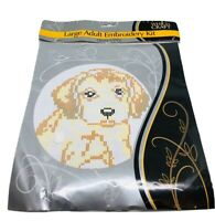 Which Craft Large Adult Embroidery Kit Puppy Dog Cross Stitch New Craft Project
