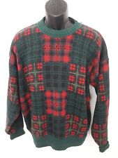 GANT Men's Pullover Plaid Knit Sweater Size Medium Retro, Cosby, Christmas Style