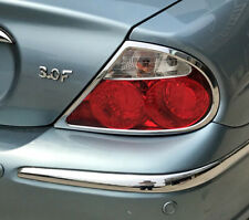 Jaguar S Type Chrome Rear Light Trims 1999 to 2004