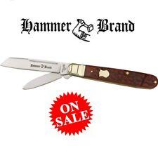 Hammer Brand Large 2 Blade English Jack Folding Pocket Knife Bone Handles NEW