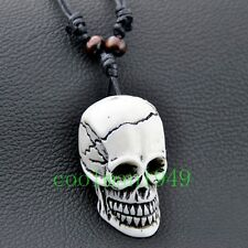 cool man boy's yak bone skull Pendant Necklace wholesale RH302