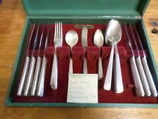 "1930's Art Deco Oneida Dinnerware ""Noblesse"" Community Plate Case 25 Pieces"