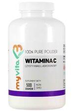 MyVita VITAMIN C L-Ascorbic Acid Pure Powder 500g Witamina C Lewoskr?tna