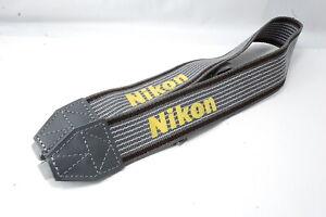 **Not ship to USA**  Nikon Strap Gray   SN0685 **Near Mint**