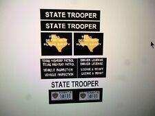 Texas DPS Highway Patrol    Vehicle Decals 1:24