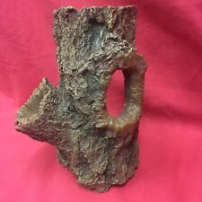 "Aquarium Fish Tank Decoration Plastic Wood Effect Log Natural Hide Away 8 x 5 """