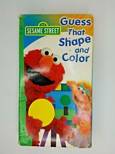 Sesame Street Guess That Shape And Color (VHS, 2006) Extremely Rare VHS Tape
