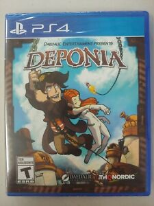 Deponia (Sony PlayStation 4, 2016) THQ Nordic Daedalic ps4 adventure NEW