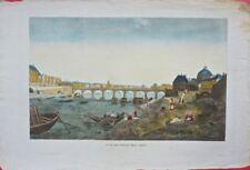 Paris : Vue du Pont des Arts /19éme