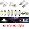 14* SUV Cars Interior Package LED Map Dome License Plate Mixed Light Accessories