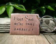 HOLY SH!T Copper Anniversary keyring 7th Husband Wife Gifts For Him Her 7 Years