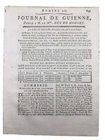 Bordeaux et son commerce Colonial 1788 Mozambique Corsaire Russe Gironde Navire