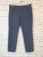 Banana Republic Womens Size 10 L Blue Sloan Chambray Slim Ankle Dress Pants