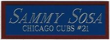 SAMMY SOSA CHICAGO CUBS NAMEPLATE AUTOGRAPHED Signed Baseball Display CUBE CASE