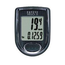 Bike Computer Cateye Velo 5 Wired Computer Black Odometer Speedometer Display