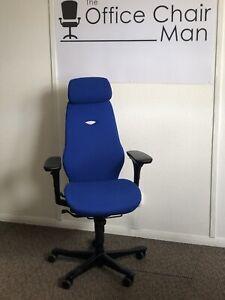 Kinnarps Plus 8 Executive Task Chair Headrest In Scuba