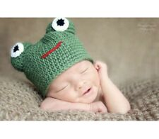 Original Crochet Pattern for Baby Frog Hat (0007)
