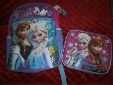 FROZEN ELSA OLAF & ANNA  SOFT LUNCHBOX FAMILY FOREVER  AND  BACKPACK