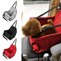 Travel Folding Dogs Cats Pet Puppy Car Carrier Booster Seat Safety Bag Basket UK
