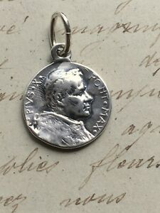 Pope Pius X / St Peter Medal  - Sterling Silver Antique Replica