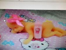 Sleeping Baby Silicone Chocolate Mould Christening Birth Birthday Cake Topper UK