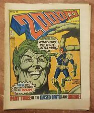 Vintage 2000 AD Prog #77 Banned Issue Judge Dredd Jolly Green Giant No Mark