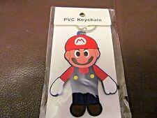 Mario Bros. Mario PVC Key Chain (NEW) Double Sided