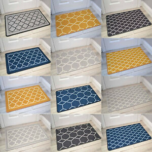 Washable Rugs Utility Hall Hallway Runner Mats Carpets Rubber Backed Barrier Mat