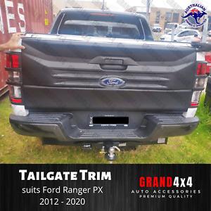 Black Rear Large Tailgate Cover Trim Matte Black for Ford Ranger PX 2012 - 2020