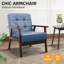 Armchair Lounge Chair Sofa Chairs PU Leather/Wooden Couch Recliner Home Office