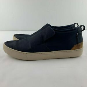 Toms Heritage Canvas Men US 14 Navy Blue Loafers Slip On Casual Shoe Recent