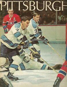 1971 hockey magazine Pittsburgh Penguins FAIR