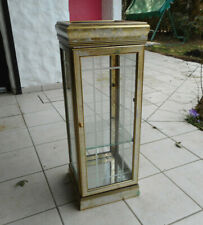 Design Holz&Glas Vitrine Konsole ?Goldfarben?  80x30x30