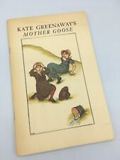 Kate Greenway's Mother Goose 1881 Reprinted In 1976 Paperback Poems