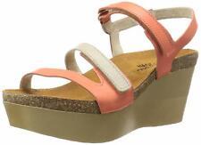 Naot CANAAN Wedge Sandal Orthotic Comfort ADJUST Width 42/10 NIB Leather PEACH