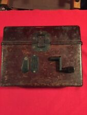 German Wwii field phone in bakelite case with capture paper - 1944 dated - Nice